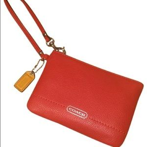 ✨ Coach Red Leather Wristlet✨